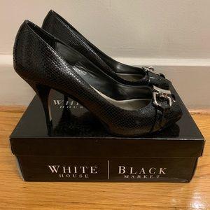 White House Black Market Black Heels Size 10